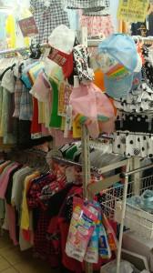 子ども服が幼児から中学生くらいまでを扱い地元でも人気